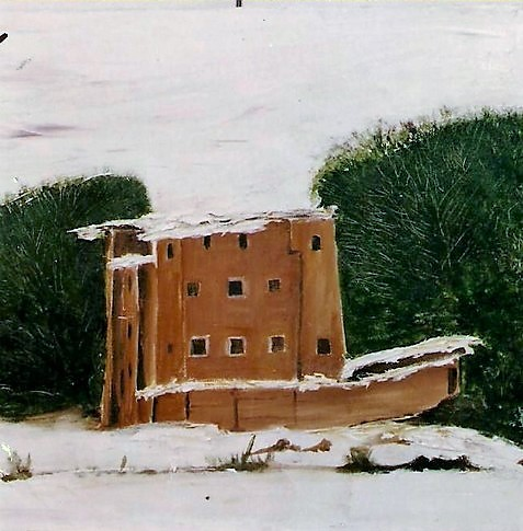 Kasbah sous la neige